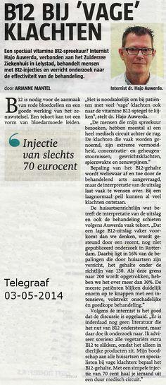 Artikel in de Telegraaf over B12-tekort