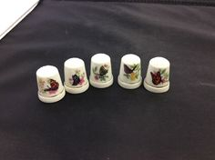 Lot of 5 Porcelain Thimbles (Butterflies)    eBay