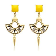 These drop earrings will give you a combination of tribal and modern look - cooliyo.com