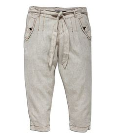 Another great find on #zulily! Light Beige Waist-Tie Harem Pants #zulilyfinds