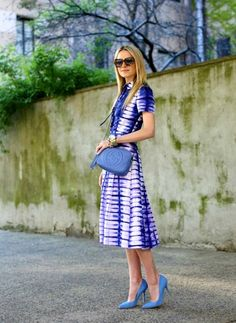 Blair in Blue. Prints in street style