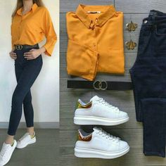 Casual Outfits For Girls, Cute Outfits With Jeans, Classy Outfits, Girls Fashion Clothes, Teen Fashion Outfits, Mode Outfits, Stylish Dress Designs, Stylish Dresses, Stylish Outfits