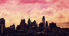 Sunset behind city skyline- favorite quote mentioning sun/light and birthdate on back of painting Philadelphia Skyline, Seattle Skyline, Cool Photos, Beautiful Pictures, Amazing Photos, City Drawing, Skyline Painting, Nyc, Dark Places