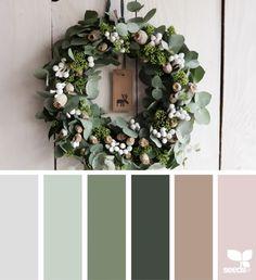 New house colors ideas design seeds ideas Design Seeds, Colour Pallette, Color Combos, Color Trends, Green Design, Flora Design, Design Design, Christmas Palette, Christmas Colors Palette