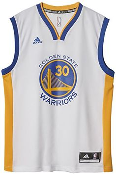 adidas  Mens Int Replica T-Shirt - White/Blue/Yellow/Nba Golden State Warriors 23A9, Medium Maillot NBA Stephen Curry Golden States Warriors blanc adidas replica taille - M (Barcode EAN = 4054706880165). http://www.comparestoreprices.co.uk/december-2016-5/adidas-mens-int-replica-t-shirt--white-blue-yellow-nba-golden-state-warriors-23a9-medium.asp