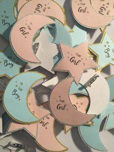 12 Gender Reveal Pin Team Pink or Team Blue / Twinkle by Nuesi More