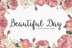 Check out Beautiful Day Script by Sweet Type on Creative Market