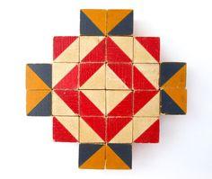 vintage wood blocks