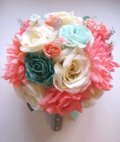 Hey, I found this really awesome Etsy listing at https://www.etsy.com/listing/174249355/free-shipping-17-pcs-wedding-bouquet