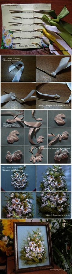 Wonderful Ribbon Embroidery Flowers by Hand Ideas. Enchanting Ribbon Embroidery Flowers by Hand Ideas. Embroidery Designs, Ribbon Embroidery Tutorial, Embroidery Supplies, Rose Embroidery, Silk Ribbon Embroidery, Embroidery Stitches, Embroidery Patterns, Embroidery Techniques, Embroidery Books
