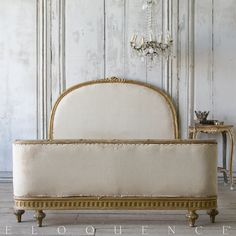 Eloquence, Inc. Antique Louis XVI style Full Size French Bed: 1900