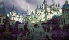 Free Online Drawing Game and Collaborative Comic Artist Community. Fantasy City, Fantasy Castle, Fantasy Places, High Fantasy, Fantasy World, Fantasy Art Landscapes, Fantasy Landscape, Episode Backgrounds, Modern Magic