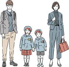 People Illustration, Character Illustration, Illustration Art, Illustrations, Family Portrait Drawing, Family Portraits, Character Concept, Character Design, Picture Design