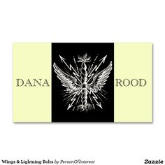 Wings & Lightning Bolts Double-Sided Standard Business Cards (Pack Of 100)