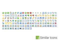 144 Mini Desktop Folder Icon Set