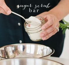 Set up a sugar scrub bar for guest to create their favorite scent & oil combinations for a beautiful take-home favor. Get the details at julieblanner.com