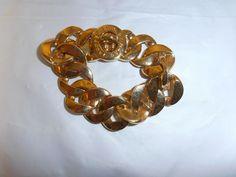 MARC JACOBS TURN LOCK CHAIN bracelet gold tone #MarcJacobs #Chain