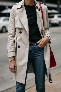Fashion Jackson Club Monaco Trench Coat Black Sweater Denim Skinny Jeans - outfits - New Hair Styles Fashion Mode, Look Fashion, Trendy Fashion, Autumn Fashion, Classic Fashion, Fashion Outfits, Classic Chic, Cheap Fashion, Fall 2018 Fashion