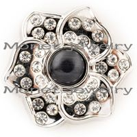 D01618 snap button jewelry Metal Snap Button Charm Rhinestone Styles snap Button