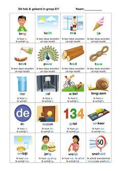 Dutch Phrases, Curriculum, Homeschool, Learn Dutch, Dutch Language, Gifted Kids, Primary School, Phonics, Kids Learning