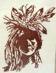 "Dimensions 6631 Counted Cross Stitch Kit ""Native American"" 5x7 inches Linda Scott"