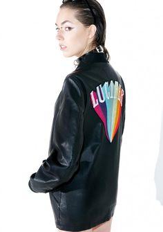 Disturbia Lucifer Bomber Jacket Boy London, Wildfox, Vegan Leather, Online Shopping, Street Wear, Bomber Jacket, Long Sleeve, Jackets, Clothes
