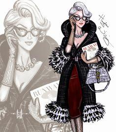 Miranda Priestly by Hayden Williams - Devil Wears Prada fashion illustrations Moda Fashion, Fashion Art, Trendy Fashion, Girl Fashion, Vintage Fashion, Fashion Design, Paper Fashion, Dress Fashion, Style Fashion