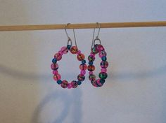 Pink beaded earrings   spring and summer by CreativeManiacs