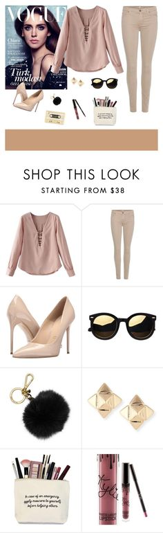 """""""Nude"""" by tsaniaardhani on Polyvore featuring 7 For All Mankind, Massimo Matteo, MICHAEL Michael Kors, Valentino, Kylie Cosmetics and Kate Spade"""