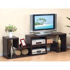 Parker Dual Unit Cappuccino Finish TV Console Stand