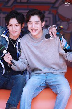 Wooseok X Kuanlin 🍑✨❤💛💚💙🧡 Love 020, Chines Drama, Love Cast, Guan Lin, Lai Guanlin, Love Film, Kdrama Actors, Kpop Guys, 3 In One