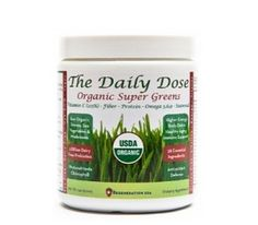 The Daily Dose Organic Super Greens is a daily drink providing 38 essential ingredients for healthy and total immune support.