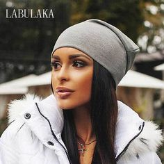 9342fa3a937 Winter Hats for Women Beanies Cotton Blended Hip Hop Caps Slouch Warm Hat  Festival Unisex Turban