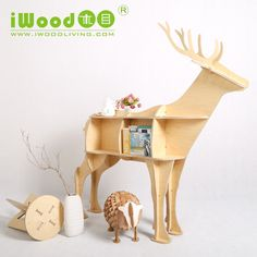 iWood 12mm birch plywood deer shape home furniture-in Wood Crafts from Home & Garden on Aliexpress.com   Alibaba Group