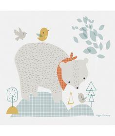 Tableau enfant thème forêt l'ours