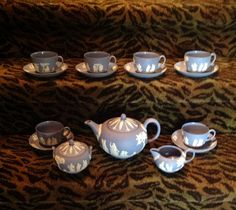 Wedgewood+Blue+Jasperware+19+piece+tea+set+by+MaisonetteJanna,+$650.00