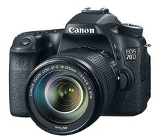Canon EOS 70D - This camera replaces the outgoing 60D & for upgrades it got built-in Wi-Fi, Near Field Communication (NFC) sharing, a 3-inch LCD touchscreen and a bump up in megapixels.   Werd