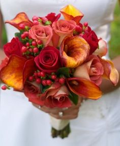 Fall wedding colors.. I would like more red than pink :)