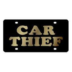 Car Thief License Plate