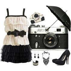 Black and White Ruffles, created by horsieb on Polyvore