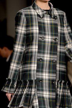Tartan coat dress!