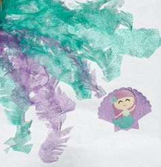 Mermaid Birthday Party Seaweed and Glitter by sugartreeshop Mermaid Birthday, 4th Birthday, Purple Glitter, Party Packs, Seaweed, Under The Sea, Paper Cutting, Teal, Decorations