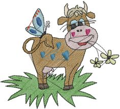 Animals(ATG Freedesigns) Embroidery Design: Cow Butterfly from Anns Club