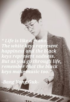 Bang Yong Guk such a wise man