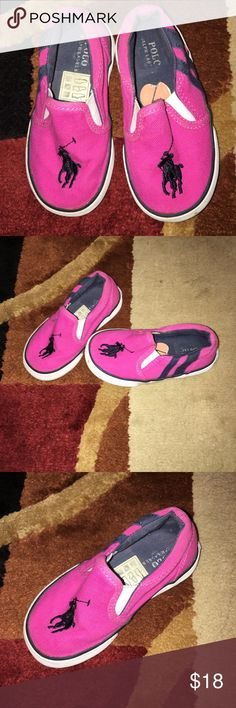 POLO BY RALPH LAUREN GIRLS SLIP ON SNEAKERS PILO BY RALPH LAUREN PINK N NAVY SLIP ON SNEAKERS EXCELLENT CONDITION LITTLE GIRLS SIZE 7 Polo by Ralph Lauren Shoes Sneakers