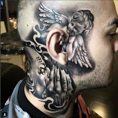 42 Amusing Pics and Images That Will Entertain You neck tattoos 42 Amusing Pics and Images That Will Entertain You Evil Tattoos, Face Tattoos, Badass Tattoos, Body Art Tattoos, Tatoos, Angel Tattoo Designs, Tattoo Sleeve Designs, Sleeve Tattoos, Hals Tattoo Mann