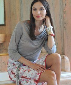 Linen Cascade atmosphere Kollektion Damen Langarm-Shirts