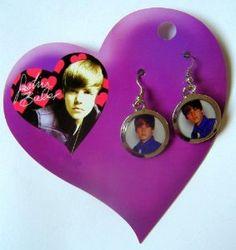 "Official Licensed Justin Bieber Bieber ""Bieber Time"" Earrings - Licensed Justin Bieber Merchandise"