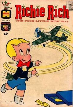 *POOR BOY RICHY RICH ~ Harvey Comics, Jack In The Box, Airplane, Toy