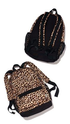 VS PINK Campus Backpack in Leopard Print